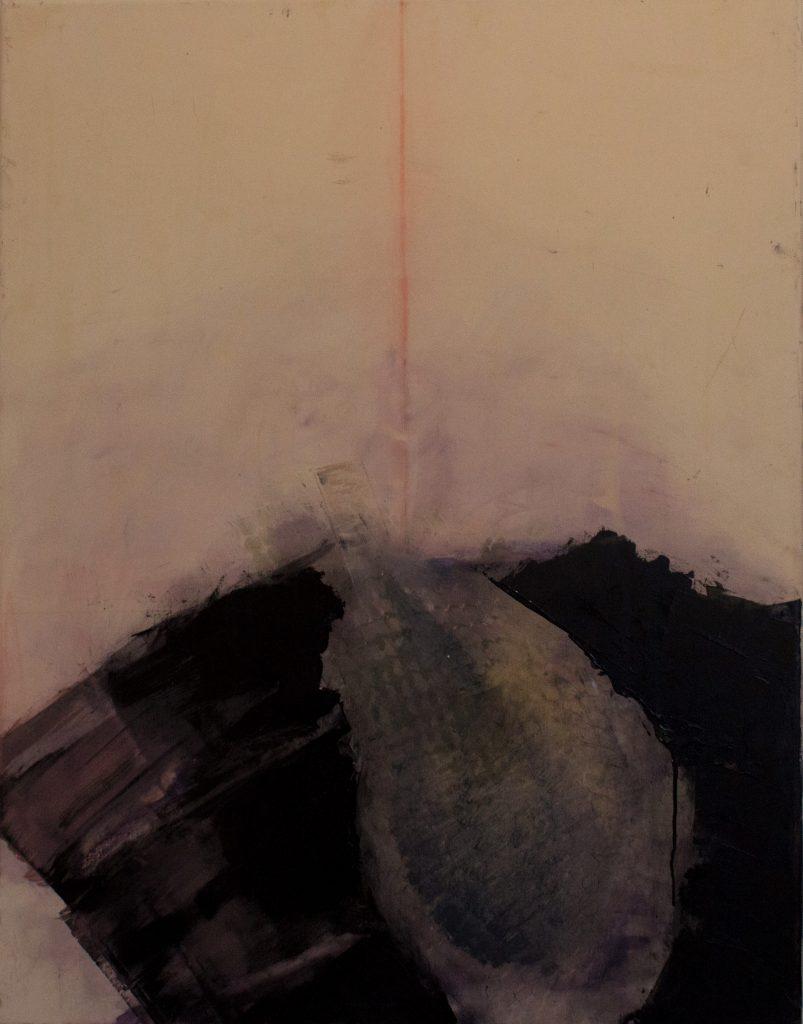Jules Allan - Deep black, 90cm x 70cm, oil on canvas