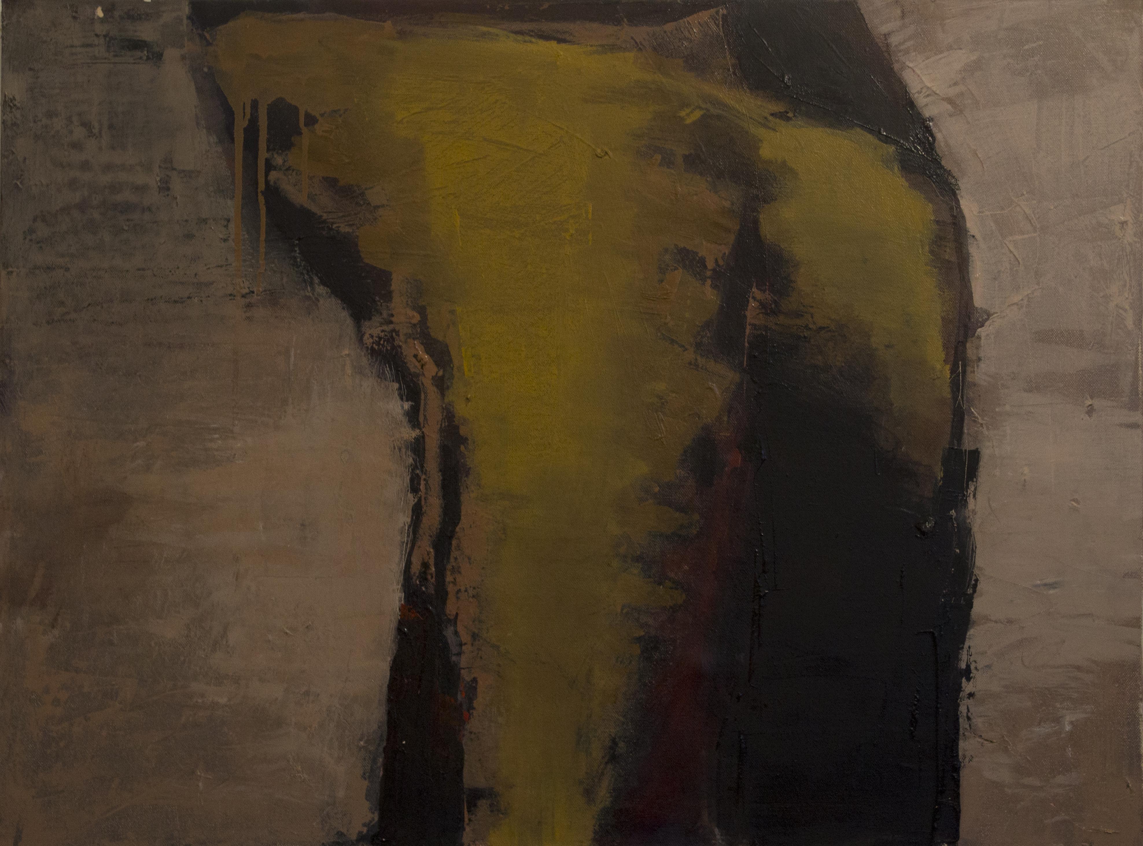 Jules Allan - Ochre and black, 60cm x 80cm, oil on canvas