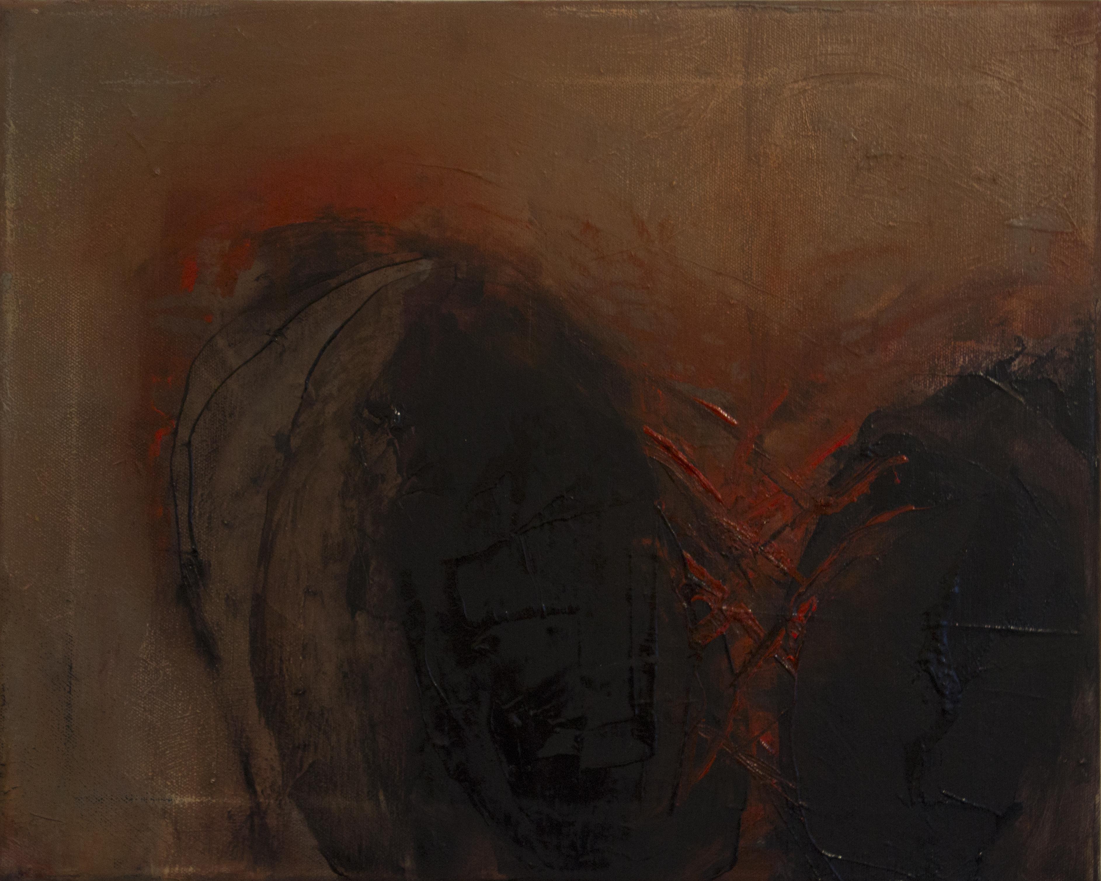 Jules Allan - Untitled, 41cm x 51cm, oil on canvas