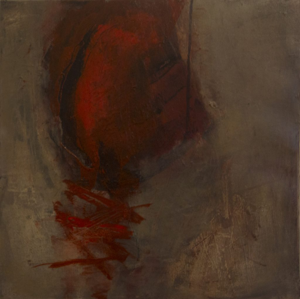 Jules Allan - Being 1, 70cm x 70cm, oil on canvas