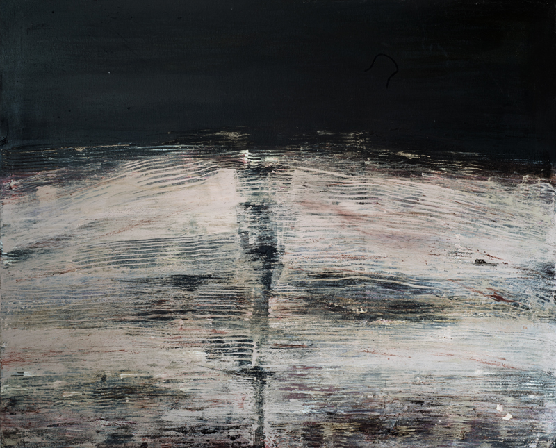 Jules Allan, Blurred lines 3, Mixed media on canvas 120x100cm