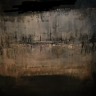 Jules Allan, Blurred lines - mixed media on canvas- 100x100cm