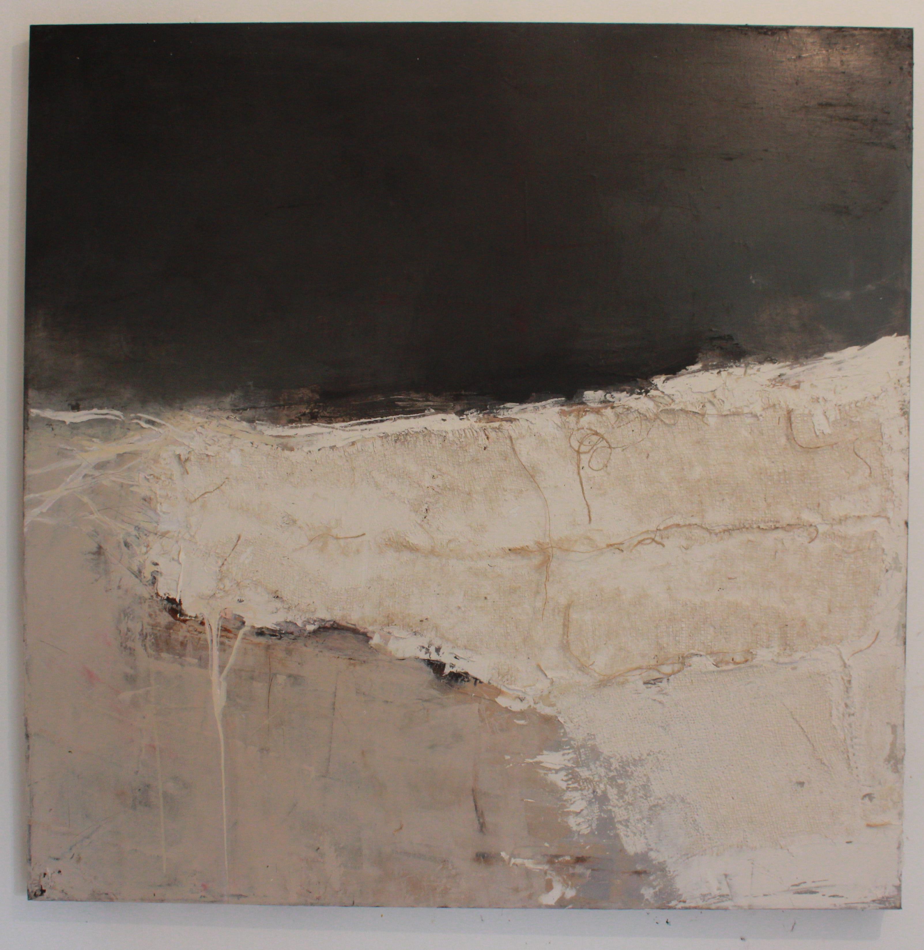 Jules Allan, Calendo, 100cmx100cm, oil and plaster on canvas
