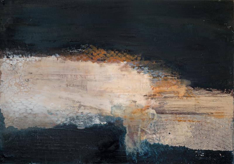 Jules Allan, Flecked, Mixed media on canvas 84x60cm