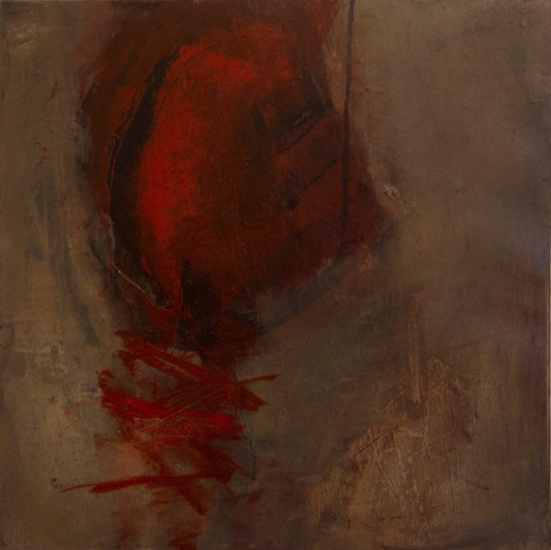 Jules Allan - Holding on, 90cm x 90cm, oil on canvas