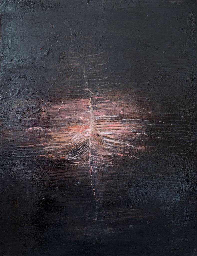 Jules Allan, Neutral-tones, Mixed media on Canvas, 90x70cm