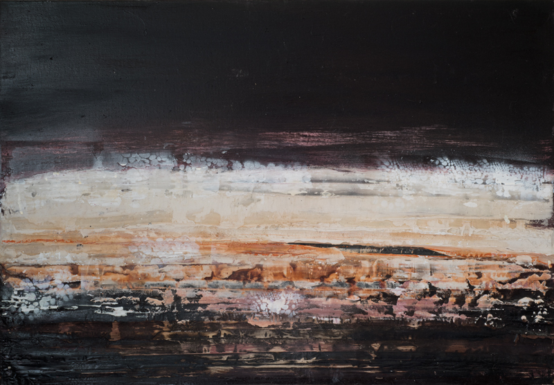 Jules Allan, Pink layer, Mixed media on canvas 84x60cm