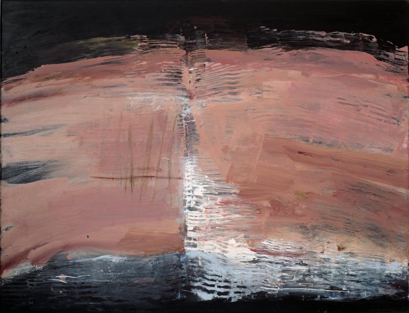Jules Allan, Pink, Mixed media on canvas, 90x70cm