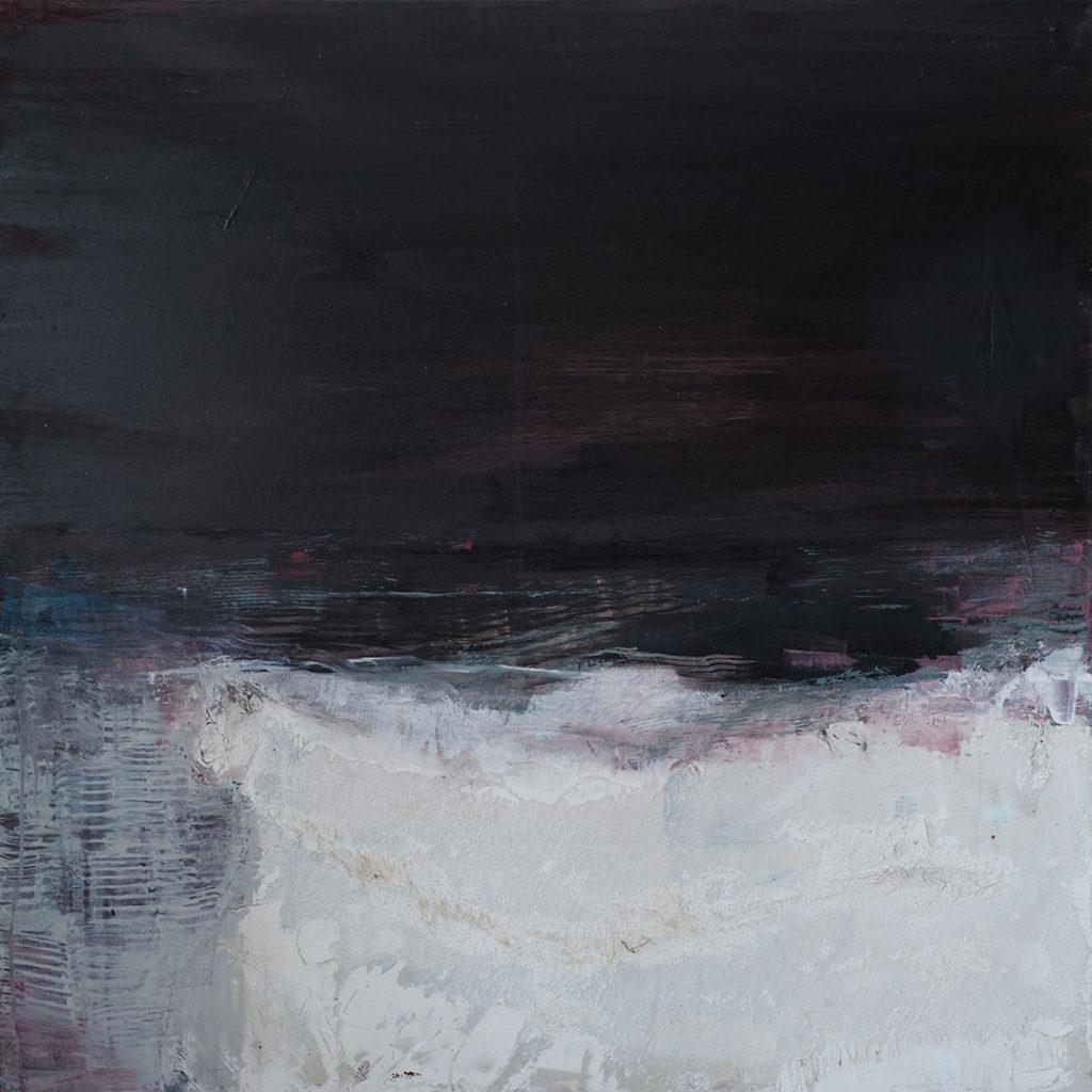 Jules Allan, Seam, 100 x 100cm, Mixed media on canvas