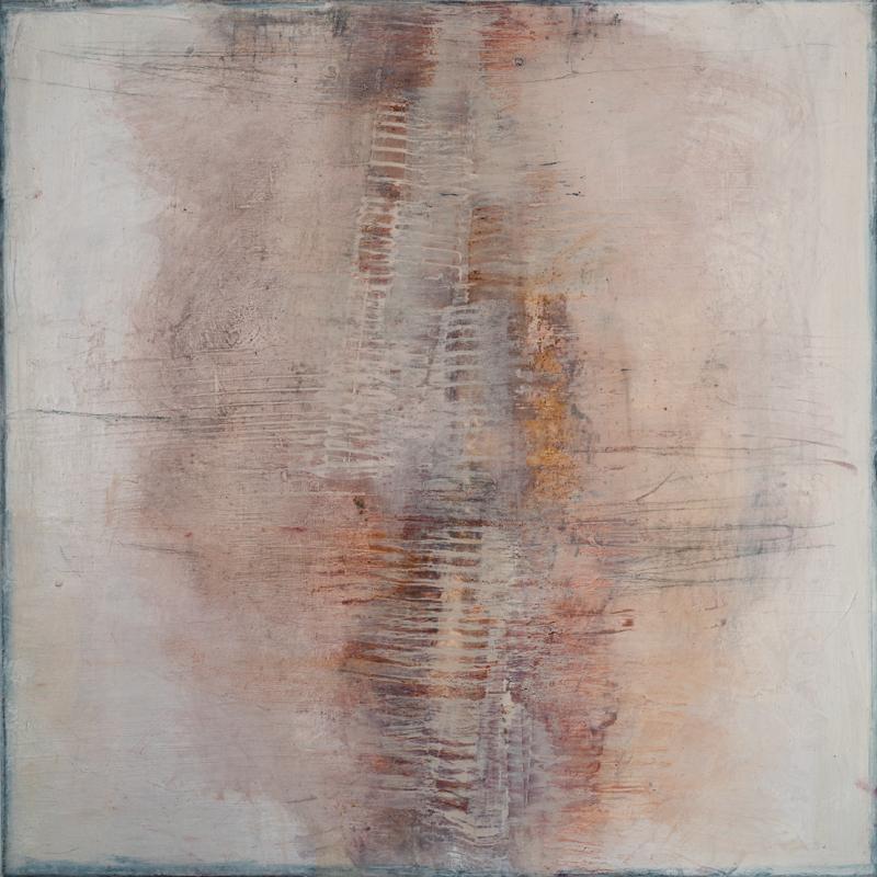 Jules Allan, Trace, Mixed media on canvas 120x100cm