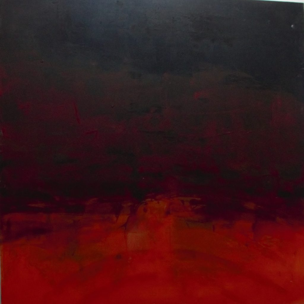 Jules Allan, Red and Orange, 100cmx100cm, oil on canvas